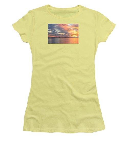 Sunset Magic Women's T-Shirt (Junior Cut) by Cynthia Guinn