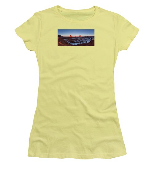 Sunset Moonrise Women's T-Shirt (Athletic Fit)