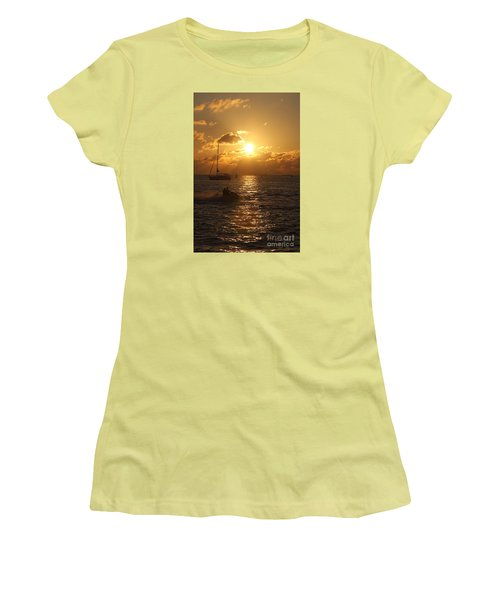 Women's T-Shirt (Junior Cut) featuring the photograph Sunset Over Key West by Christiane Schulze Art And Photography