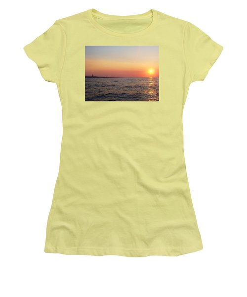 Sunset Over Montauk Women's T-Shirt (Athletic Fit)