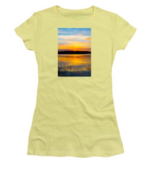 Sunset Over The Lake Women's T-Shirt (Junior Cut) by Parker Cunningham