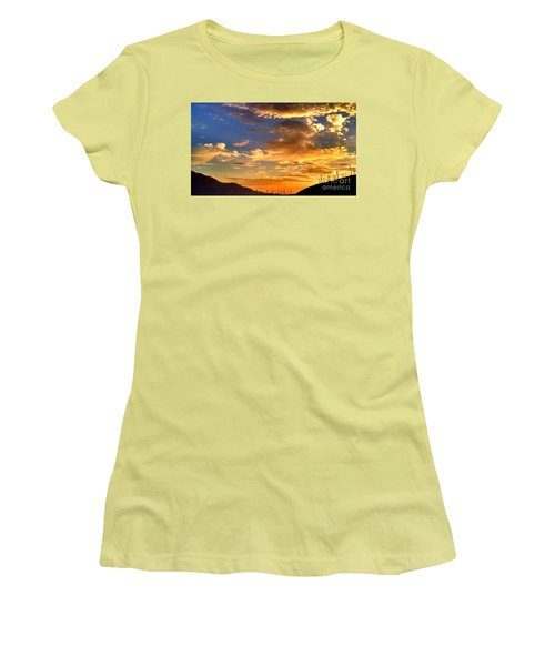 Sunset Over The Pass Women's T-Shirt (Athletic Fit)