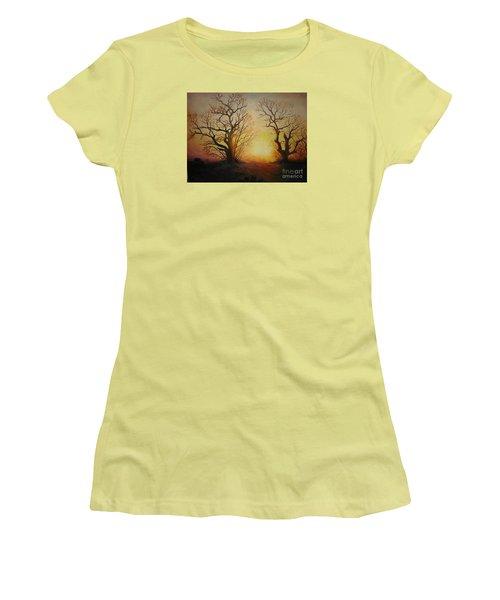 Sunset Women's T-Shirt (Junior Cut) by Sorin Apostolescu