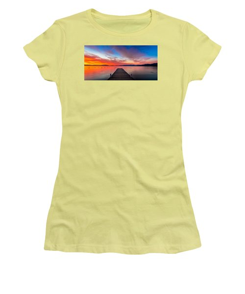 Sunset Walkway Women's T-Shirt (Athletic Fit)