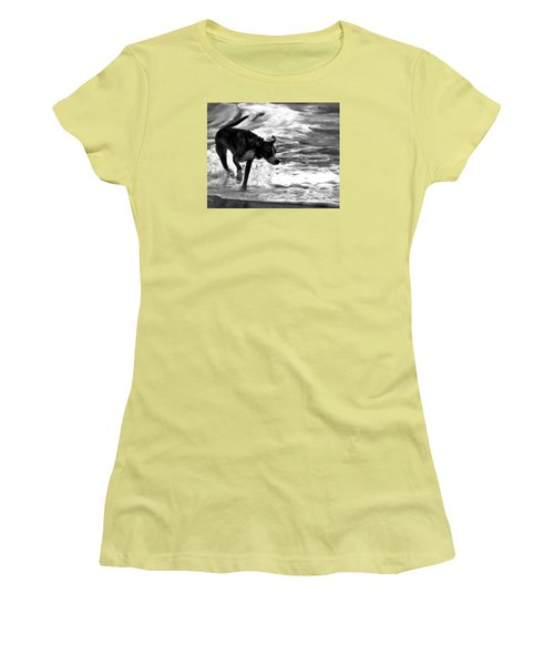 Surfer Bird Women's T-Shirt (Junior Cut) by Robert McCubbin