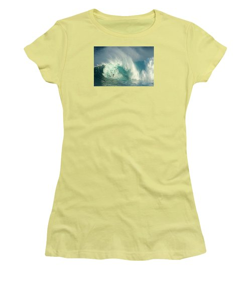 Surfing Jaws 3 Women's T-Shirt (Junior Cut) by Bob Christopher