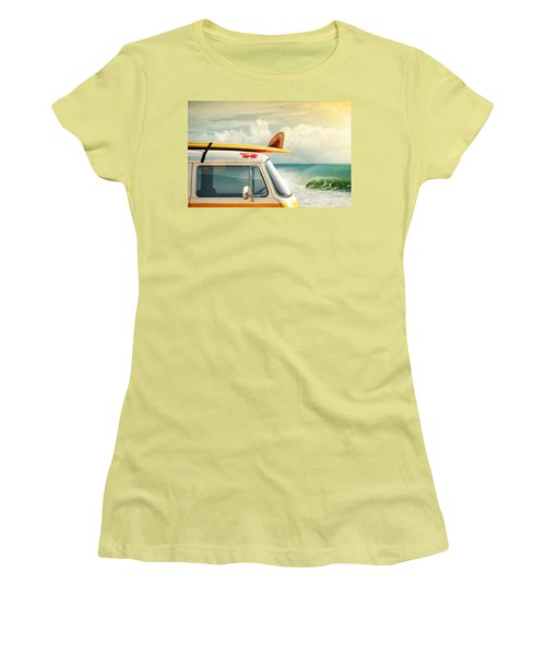 Surfing Way Of Life Women's T-Shirt (Athletic Fit)