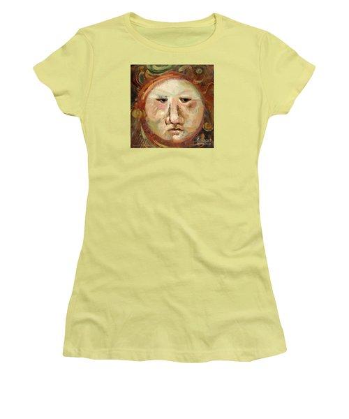 Suspicious Moonface Women's T-Shirt (Athletic Fit)