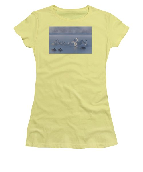 Women's T-Shirt (Junior Cut) featuring the photograph Swan Showing Off by Patti Deters