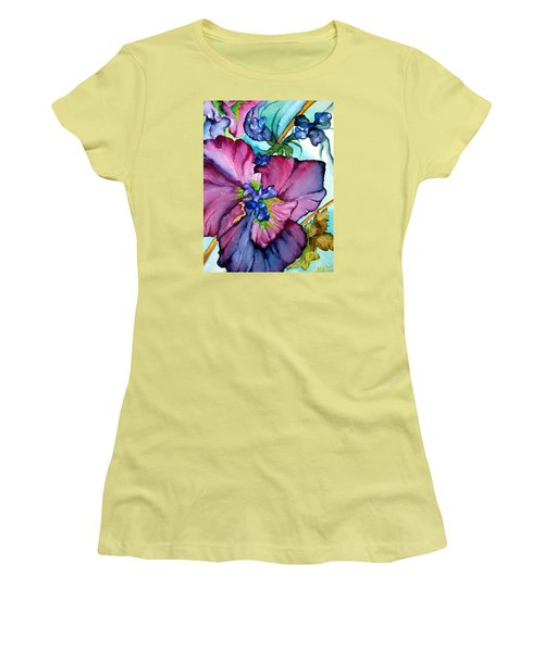 Sweet And Wild In Turquoise And Pink Women's T-Shirt (Junior Cut) by Lil Taylor