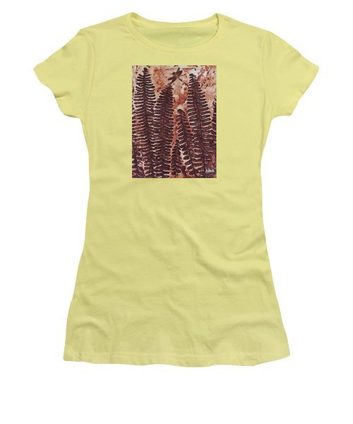 Sword Fern Fossil Women's T-Shirt (Junior Cut) by Katherine Young-Beck