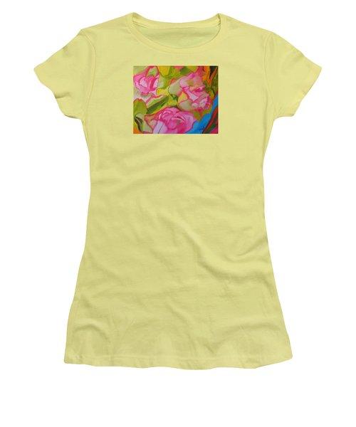 Symphony Of Roses Women's T-Shirt (Junior Cut) by Meryl Goudey