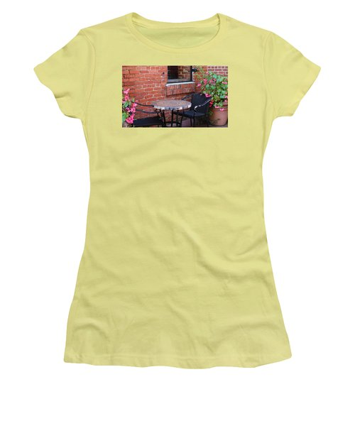 Women's T-Shirt (Junior Cut) featuring the photograph Table For Two by Cynthia Guinn