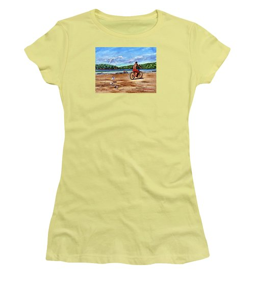 Taking A Ride  Women's T-Shirt (Athletic Fit)