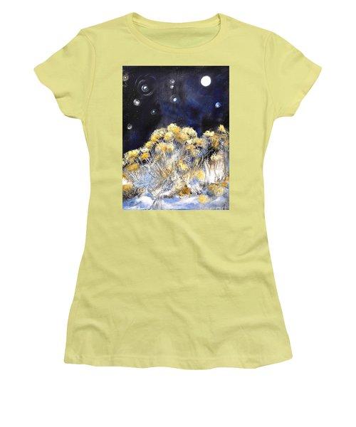 Taos Night Orbs Women's T-Shirt (Junior Cut) by Glory Wood
