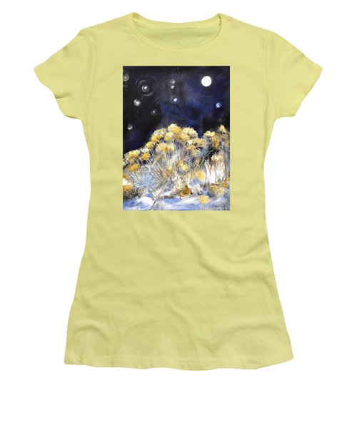 Taos Night Orbs Women's T-Shirt (Athletic Fit)
