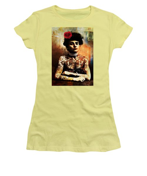 Tattoo Lady Women's T-Shirt (Athletic Fit)