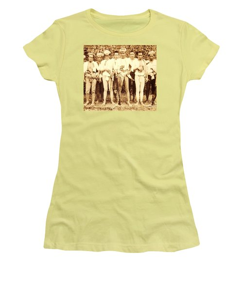 Women's T-Shirt (Junior Cut) featuring the photograph Tausug Tribe Members - Moros by Roberto Prusso