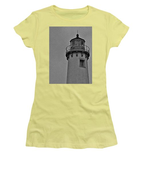Women's T-Shirt (Junior Cut) featuring the photograph Tawas Point In The Rain by Daniel Thompson