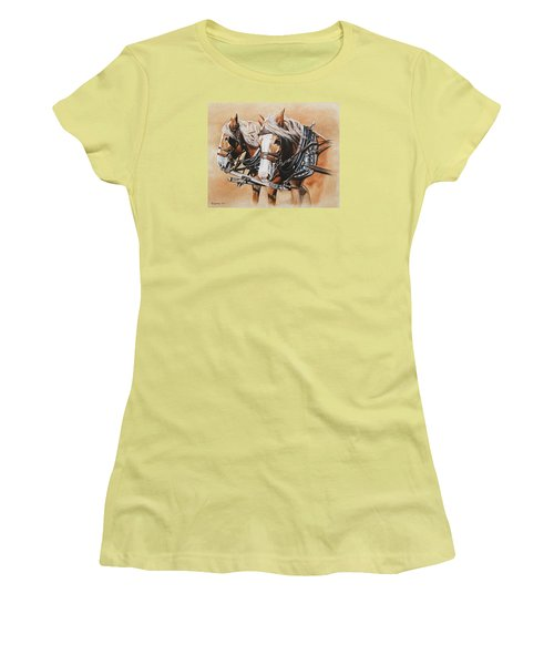 Ted And Tom Women's T-Shirt (Junior Cut) by Kim Lockman