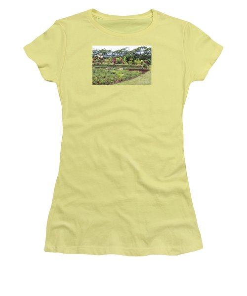 Women's T-Shirt (Junior Cut) featuring the photograph Tending The Land by Suzanne Luft