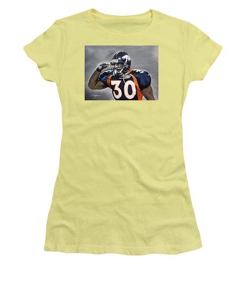 Terrell Davis  Women's T-Shirt (Athletic Fit)