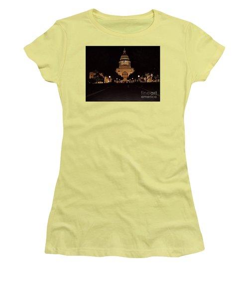 Texas State Capital Women's T-Shirt (Junior Cut) by John Telfer