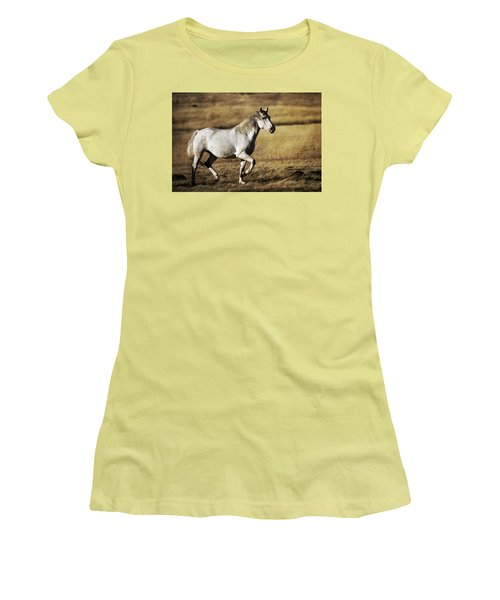 Women's T-Shirt (Junior Cut) featuring the photograph That Golden Hour D3550 by Wes and Dotty Weber