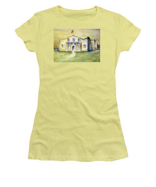 The Alamo  Women's T-Shirt (Junior Cut) by Bernadette Krupa