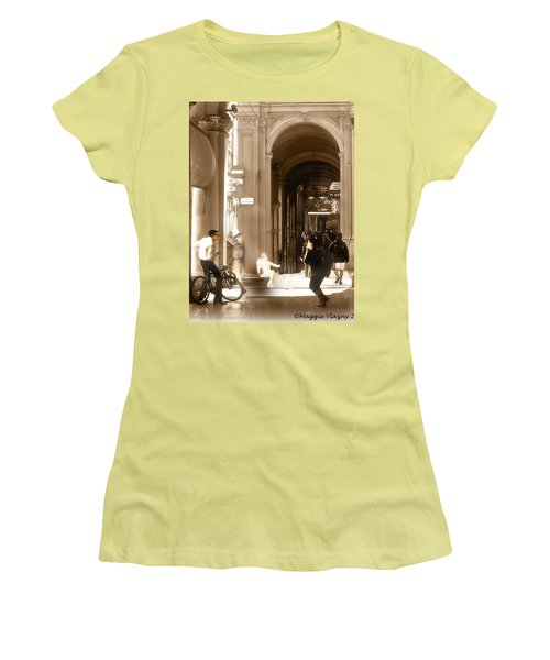 The Art Of Love Italian Style Women's T-Shirt (Athletic Fit)