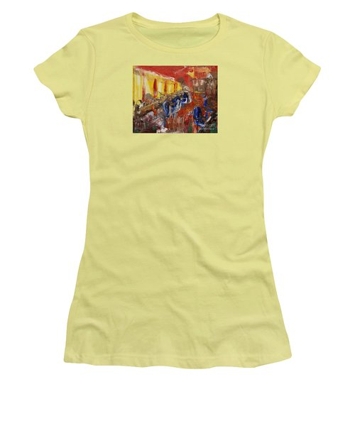 The Barber's Shop - 2 Women's T-Shirt (Athletic Fit)