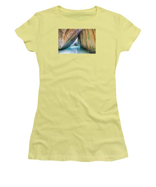 The Baths Virgin Gorda British Virgin Islands Women's T-Shirt (Junior Cut) by Olga Hamilton