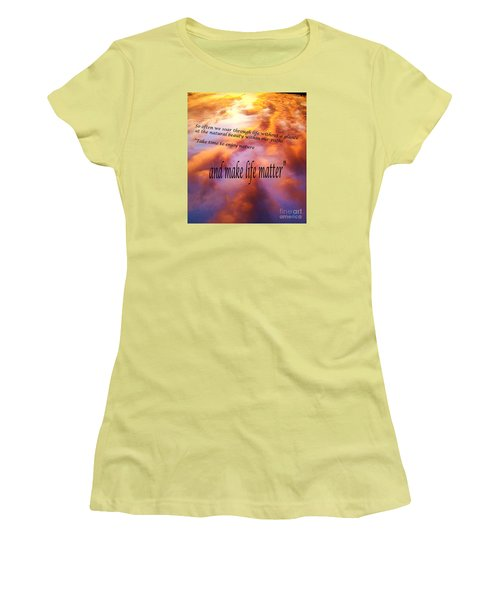 The Beauty In Nature Women's T-Shirt (Junior Cut) by Robin Coaker