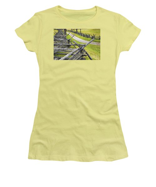 The Bloody Lane At Antietam Women's T-Shirt (Athletic Fit)