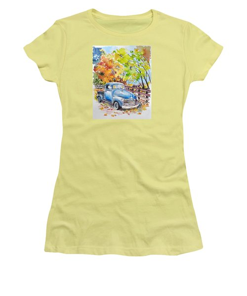 The Old Chevy In Autumn Women's T-Shirt (Athletic Fit)