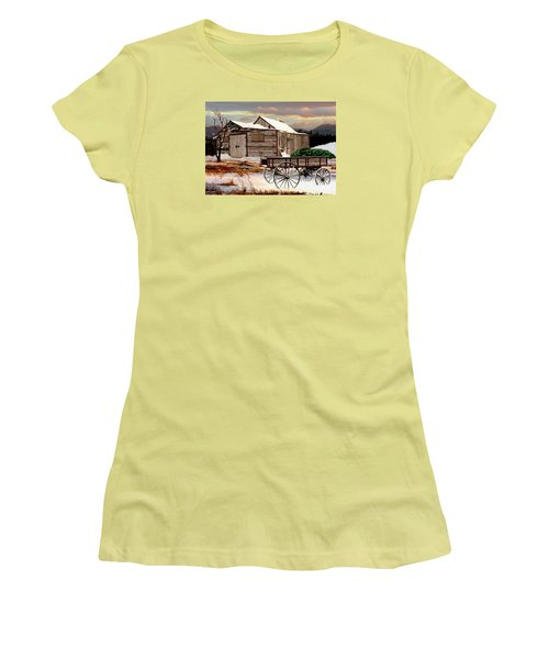 The Christmas Tree Women's T-Shirt (Junior Cut) by Ron and Ronda Chambers