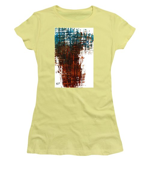 Women's T-Shirt (Junior Cut) featuring the painting The Divine In Us 265.111011 by Kris Haas