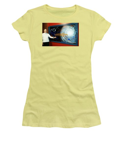 Women's T-Shirt (Junior Cut) featuring the painting The  Enigma  Painting by Hartmut Jager
