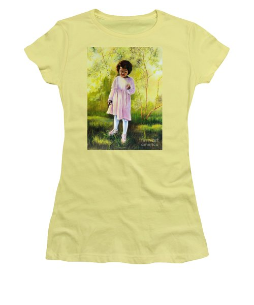 The Forsythia Women's T-Shirt (Junior Cut) by Marlene Book