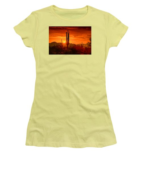 The Golden Southwest Skies  Women's T-Shirt (Athletic Fit)