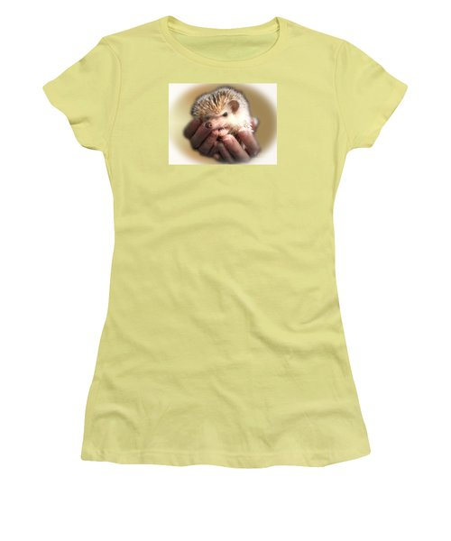 Women's T-Shirt (Junior Cut) featuring the photograph The Hands Who Cares For The Animals  by Donna Brown