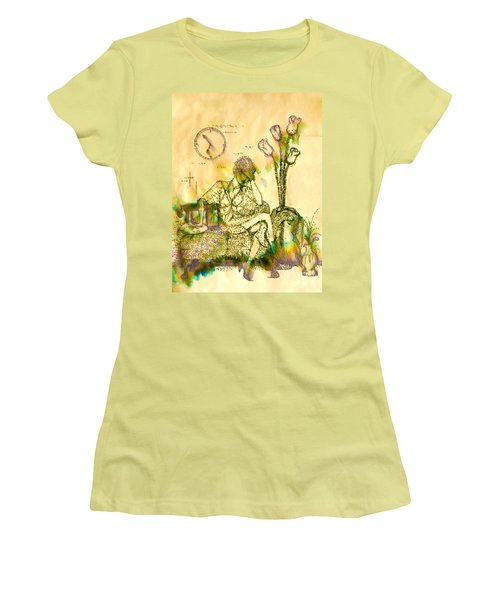 The Hold Up Sepia Tone Women's T-Shirt (Athletic Fit)