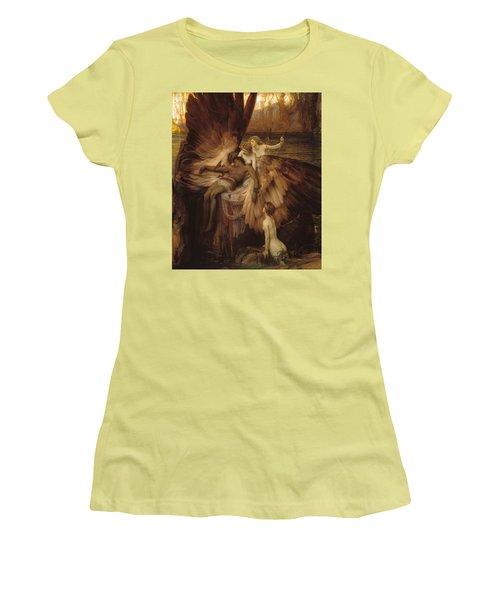 The Lament For Icarus Women's T-Shirt (Junior Cut) by Herbert James Draper