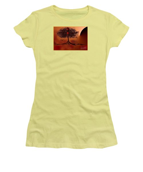 Women's T-Shirt (Junior Cut) featuring the digital art The Last Tree by The Art of Alice Terrill