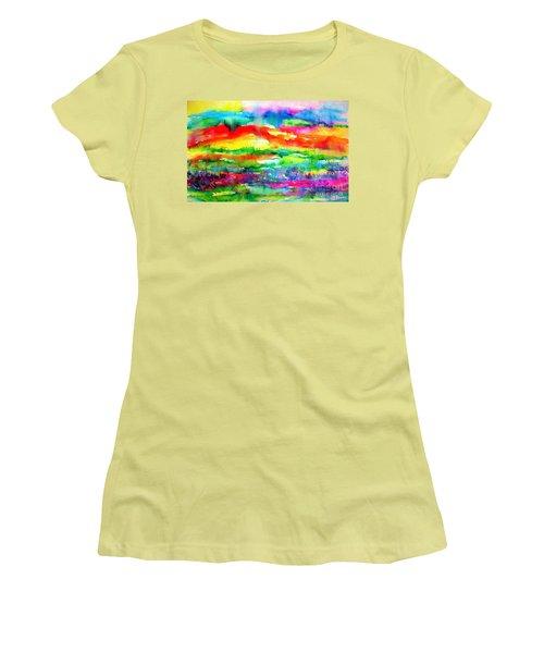 The Living Desert Women's T-Shirt (Junior Cut) by Hazel Holland