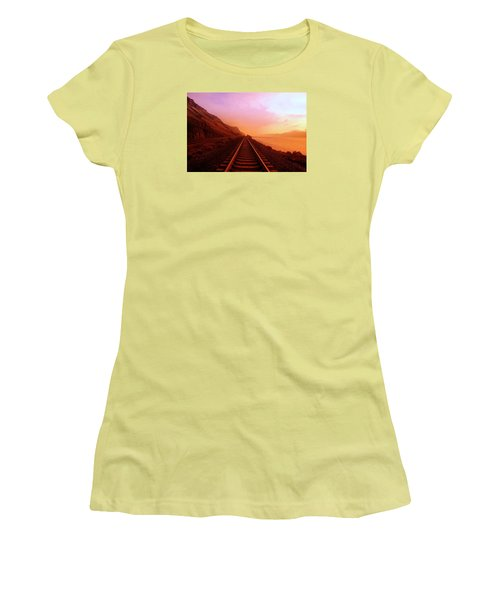 The Long Walk To No Where  Women's T-Shirt (Junior Cut) by Jeff Swan