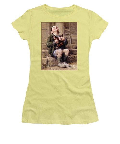 Women's T-Shirt (Junior Cut) featuring the painting The New Shoes by Jane Bucci