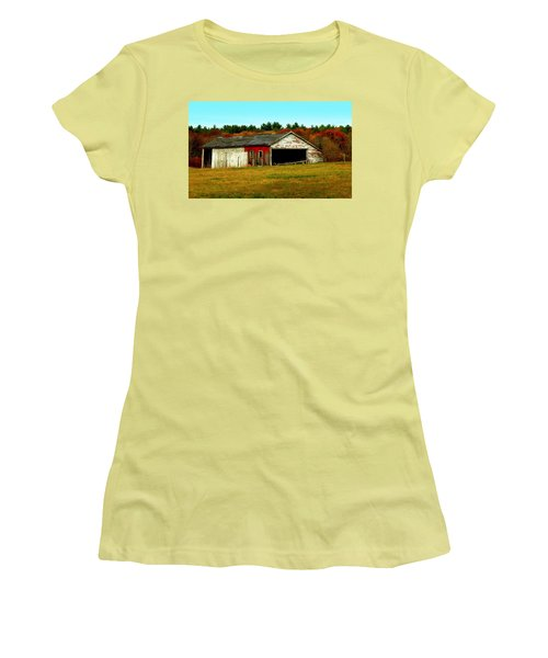 The Old Barn Women's T-Shirt (Junior Cut) by Bruce Carpenter