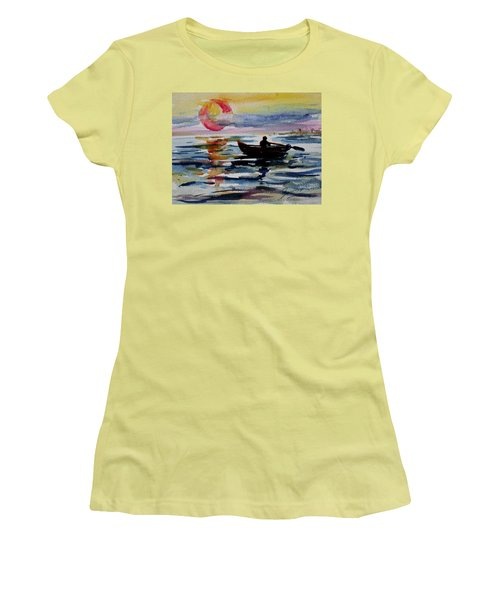 The Old Man And The Sea Women's T-Shirt (Junior Cut) by Xueling Zou