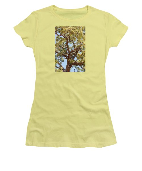 The Old Tree Women's T-Shirt (Junior Cut) by Connie Fox